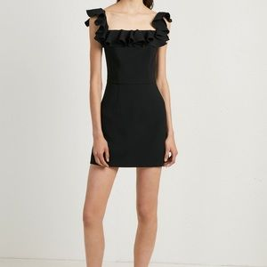 French Connection Whisper Light Ruffle Dress